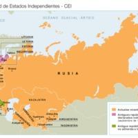 Mapa de la Comunidad de Estados Independientes