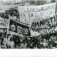 Un aspecto de la manifestación en favor de la amnistía celebrada en Lleida.jpg