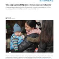 China relaja la política del hijo único y cierra los campos de reeducación _ Internacional _ EL PAÍS.pdf