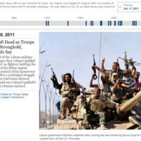 Timeline de la vida de Muamar el Gadafi