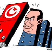 Mubarak plantando cara al efecto dominó de la revolución tunecina.