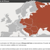 Mapa Flash de la caída del bloque soviético entre 1989 y 1991