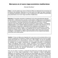 Marruecos en el nuevo mapa económico mediterráneo (ARI)