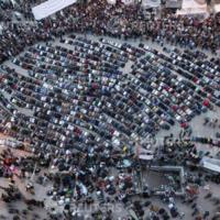 Rezos durante las manifestaciones