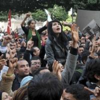 Manifestaciones en Túnez