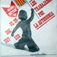 Los sindicatos en apoyo del estatuto de autonomía para Cataluña, en el ámbito del Congrés de Cultura Catalana.JPG