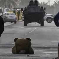 Los osos de peluche: símbolo de las protestas en Bahrein