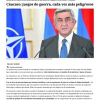 Cáucaso_ juegos de guerra, cada vez más peligrosos.pdf