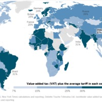 Value added tax (VAT) plus the average tariff in each country.png