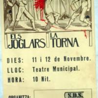 Anuncio de la obra de teatro La Torna en 1977.JPG